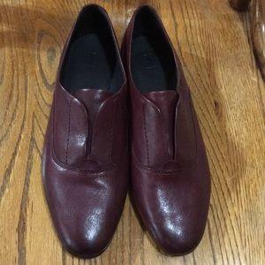 Frye Burgundy Leather Slip On Oxfords ~ New